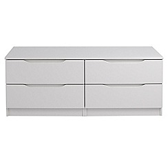 Debenhams - Grey 'Brighton' low 4 drawer chest