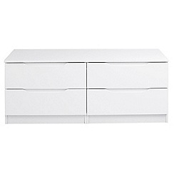 Debenhams - White 'Brighton' low 4 drawer chest