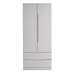 Debenhams - Grey 'Brighton' double wardrobe with drawers