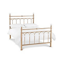 Debenhams - Rose gold 'Krystal' bedframe