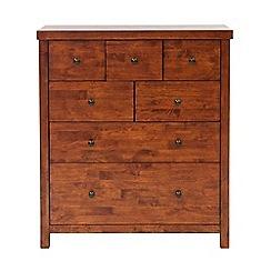 Willis & Gambier - Dark brown 'Kochi' narrow 7 drawer chest