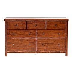 Willis & Gambier - Dark brown 'Kochi' 7 drawer chest