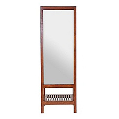 Willis & Gambier - Dark brown 'Kochi' leaning mirror