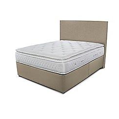 Sleepeezee - Beige divan bed with 'Opulence 3000' mattress