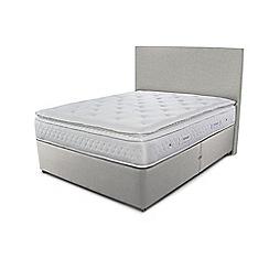 Sleepeezee - Taupe grey divan bed with 'Opulence 3000' mattress
