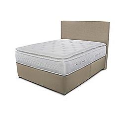Sleepeezee - Beige divan bed with 'Opulence 4000' mattress