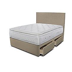 Sleepeezee - Beige 4 drawer divan bed with 'Opulence 4000' mattress