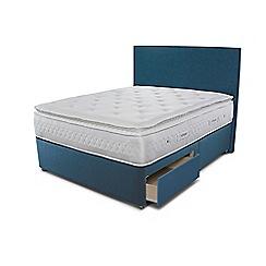Sleepeezee - Blue 2 drawer divan bed with 'Opulence 4000' mattress