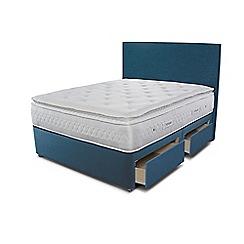 Sleepeezee - Blue 4 drawer divan bed with 'Opulence 4000' mattress
