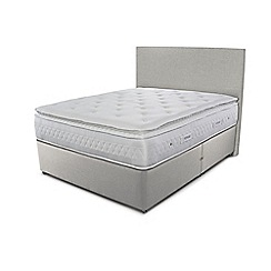 Sleepeezee - Taupe grey divan bed with 'Opulence 4000' mattress