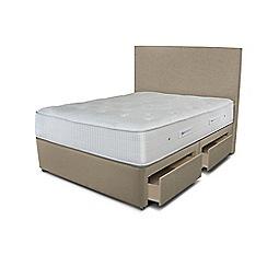 Sleepeezee - Beige 4 drawer divan bed with 'Gel Sensation 1500' mattress