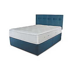 Sleepeezee - Ocean blue divan bed with 'Gel Sensation 1500' mattress