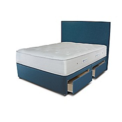 Sleepeezee - Ocean blue 4 drawer divan bed with 'Gel Sensation 1500' mattress
