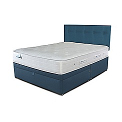 Sleepeezee - Ocean blue half end ottoman divan bed with 'Gel Sensation 1500' mattress