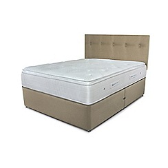 Sleepeezee - Beige divan bed with 'Gel Sensation 2000' mattress