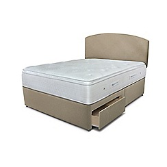 Sleepeezee - Beige 2 drawer divan bed with 'Gel Sensation 2000' mattress