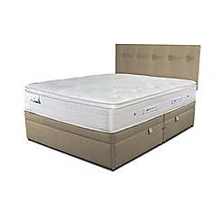 Sleepeezee - Beige side ottoman divan bed with 'Gel Sensation 2000' mattress