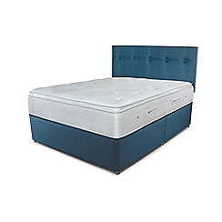Sleepeezee - Ocean blue divan bed with 'Gel Sensation 2000' mattress
