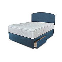 Sleepeezee - Ocean blue 2 drawer divan bed with 'Gel Sensation 2000' mattress