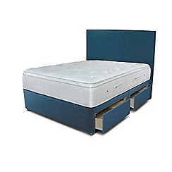 Sleepeezee - Ocean blue 4 drawer divan bed with 'Gel Sensation 2000' mattress