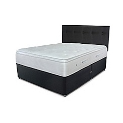 Sleepeezee - Black divan bed with 'Gel Sensation 2000' mattress