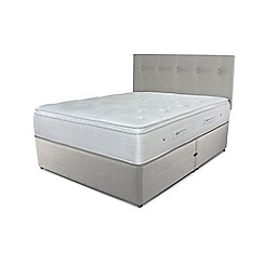Sleepeezee - Taupe divan bed with 'Gel Sensation 2000' mattress