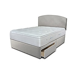 Sleepeezee - Taupe 2 drawer divan bed with 'Gel Sensation 2000' mattress