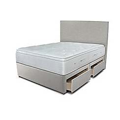 Sleepeezee - Taupe 4 drawer divan bed with 'Gel Sensation 2000' mattress