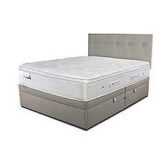 Sleepeezee - Taupe side ottoman divan bed with 'Gel Sensation 2000' mattress