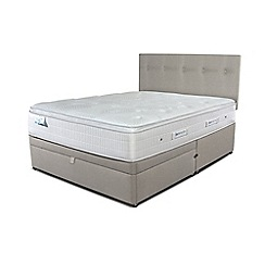 Sleepeezee - Taupe half end ottoman divan bed with 'Gel Sensation 2000' mattress