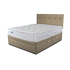 Sleepeezee - Beige side ottoman divan bed with 'Gel Sensation 1200' mattress
