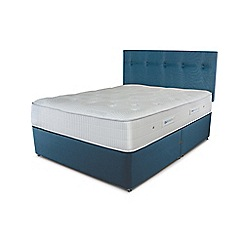 Sleepeezee - Ocean blue divan bed with 'Gel Sensation 1200' mattress