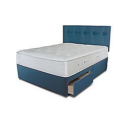Sleepeezee - Ocean blue 2 drawer divan bed with 'Gel Sensation 1200' mattress