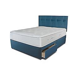 Sleepeezee - Blue 2 drawer divan bed with 'Gel Sensation 1200' mattress