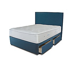 Sleepeezee - Ocean blue 4 drawer divan bed with 'Gel Sensation 1200' mattress