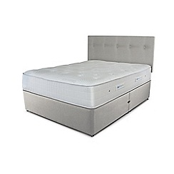 Sleepeezee - Taupe grey divan bed with 'Gel Sensation 1200' mattress
