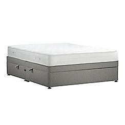 Debenhams - Light grey 'Studio Basics' flat weave side ottoman divan bed with mattress