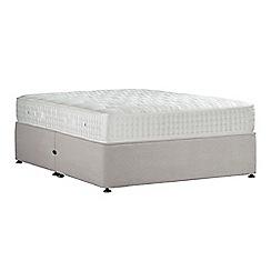 Sleepeezee - Light grey 'Perfectly Ortho Gold' plush velvet no storage divan bed with mattress
