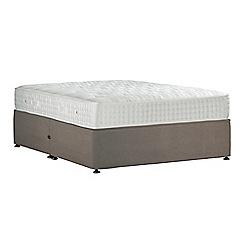 Sleepeezee - Camel 'Perfectly Ortho Gold' plush velvet no storage divan bed with mattress