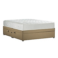 Sleepeezee - Camel 'Perfectly Ortho Gold' flat weave side ottoman divan bed with mattress