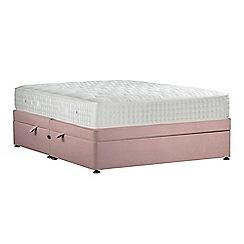 Sleepeezee - Light pink 'Perfectly Ortho Gold' plush velvet side ottoman divan bed with mattress