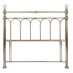 Debenhams - Antique brass 'Krystal' headboard