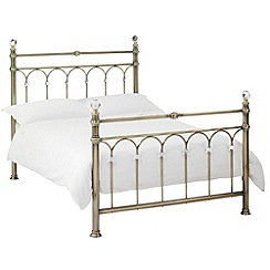Debenhams - Antique brass 'Krystal' bed frame