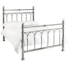 Debenhams - Antique nickel 'Krystal' bed frame