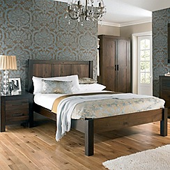 Debenhams - Walnut 'Lyon' bed frame