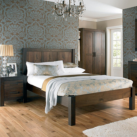 Debenhams - Walnut +Lyon+ bed frame
