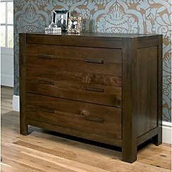 Debenhams - Walnut 'Lyon' 3 drawer chest