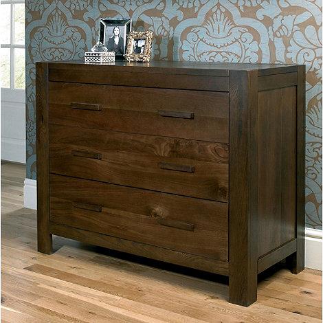 Debenhams - Walnut +Lyon+ 3 drawer chest