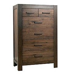 Debenhams - Walnut 'Lyon' 6 drawer chest