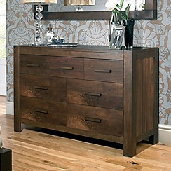 Debenhams - Walnut 'Lyon' 7 drawer chest